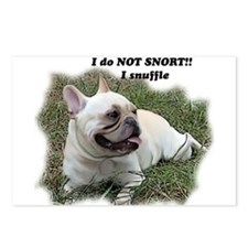 French bulldog Snort Postcards (Package of 8)