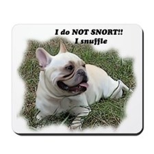 French bulldog Snort Mousepad