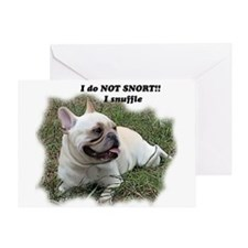 French bulldog Snort Greeting Card