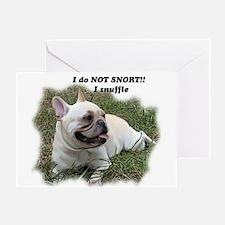 French bulldog Snort Greeting Card