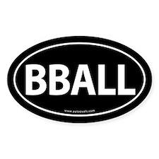 BBALL Traditional Auto Sticker -Black (Oval)