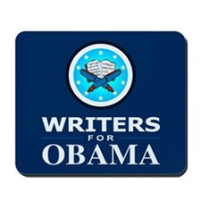 WRITERS FOR OBAMA Mousepad
