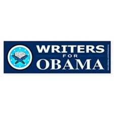 WRITERS FOR OBAMA Bumper Stickers