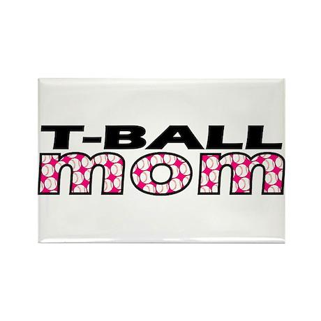 T-Ball Mom Rectangle Magnet