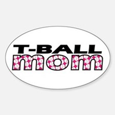 T-Ball Mom Oval Decal