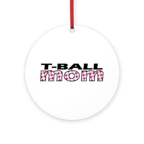 T-Ball Mom Ornament (Round)