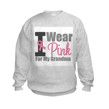 I Wear Pink (Grandma) Kids Sweatshirt
