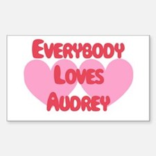 Everybody Loves Audrey Rectangle Decal