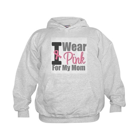 I Wear Pink For My Mom Kids Hoodie