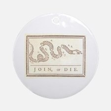 Join or Die Ornament (Round)