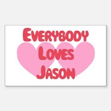 Everybody Loves Jason Rectangle Decal