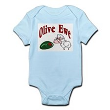 I Love You: Olive Ewe Infant Creeper