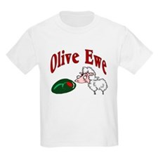 I Love You: Olive Ewe Kids T-Shirt