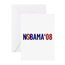 Nobama '08 2 Greeting Cards (Pk of 20)
