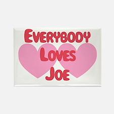 Everybody Loves Joe Rectangle Magnet
