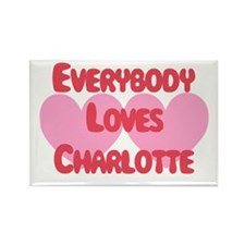Everybody Loves Charlotte Rectangle Magnet