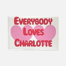 Everybody Loves Charlotte Rectangle Magnet