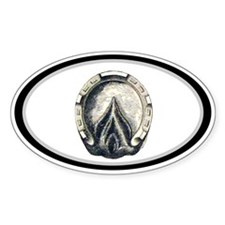 Horse Hoof Oval Oval Decal