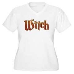Witch Fire Lava Text T-Shirt
