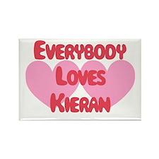 Everybody Loves Kieran Rectangle Magnet