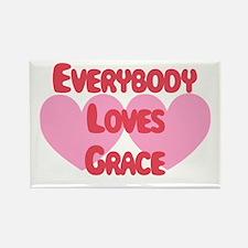 Everybody Loves Grace Rectangle Magnet