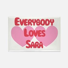 Everybody Loves Sara Rectangle Magnet