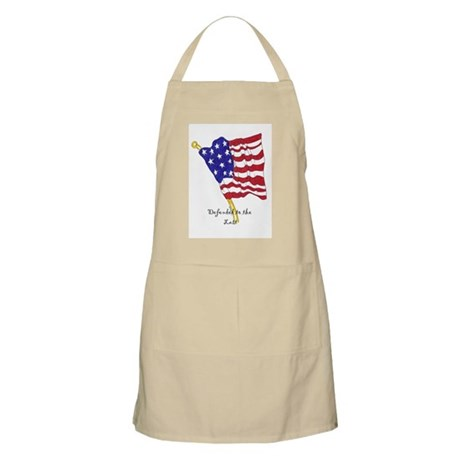 defending to the last BBQ Apron
