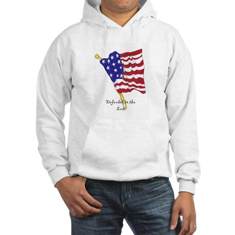 defending to the last Hooded Sweatshirt