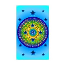 Celtic Earth Orb Rectangle Decal