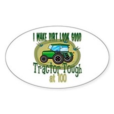Tractor Tough 100th Oval Decal