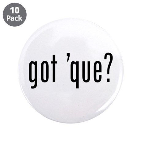 "got 'cue? 3.5"" Button (10 pack)"