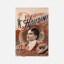 Harry Houdini King of Cards Rectangle Magnet