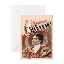Harry Houdini King of Cards Greeting Card