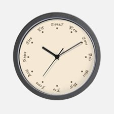 Quaint Wall Clock with Dutch Numbers