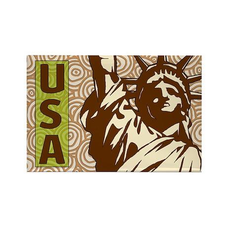 USA Liberty Rectangle Magnet (10 pack)