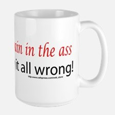 If Sex Is A.... Large Mug