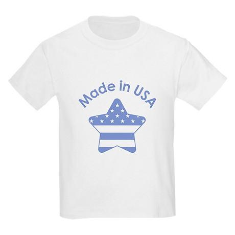 Made in USA Blue Kids Light T-Shirt