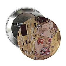 """Klimt's The Kiss 2.25"""" Button"""