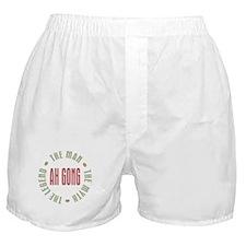 Ah Gong Chinese Grandpa Man Myth Boxer Shorts