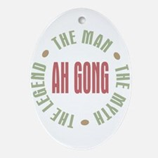 Ah Gong Chinese Grandpa Man Myth Oval Ornament