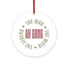 Ah Gong Chinese Grandpa Man Myth Ornament (Round)