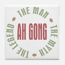 Ah Gong Chinese Grandpa Man Myth Tile Coaster