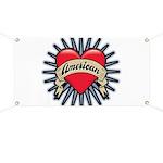 American Tattoo Heart Banner
