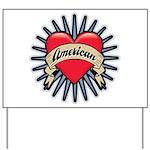American Tattoo Heart Yard Sign