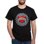 American Tattoo Heart Dark T-Shirt