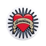 "American Tattoo Heart 3.5"" Button (100 pack)"