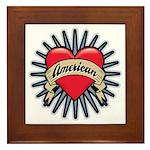 American Tattoo Heart Framed Tile