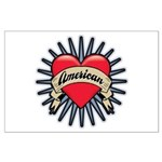 American Tattoo Heart Large Poster