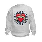 American Tattoo Heart Kids Sweatshirt