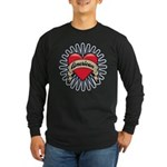 American Tattoo Heart Long Sleeve Dark T-Shirt